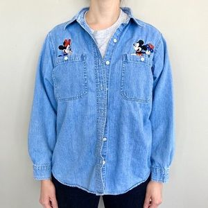 Disney Mickey Unlimited by Jerry Leigh denim shirt
